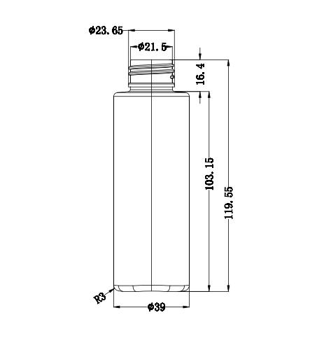 Plano botella FB15991A