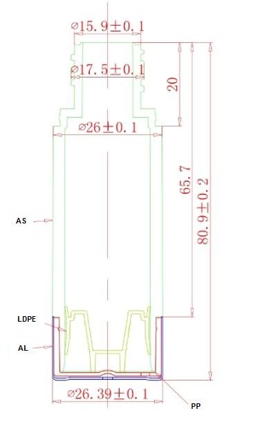 Plano materiales airless AR15B1AJ