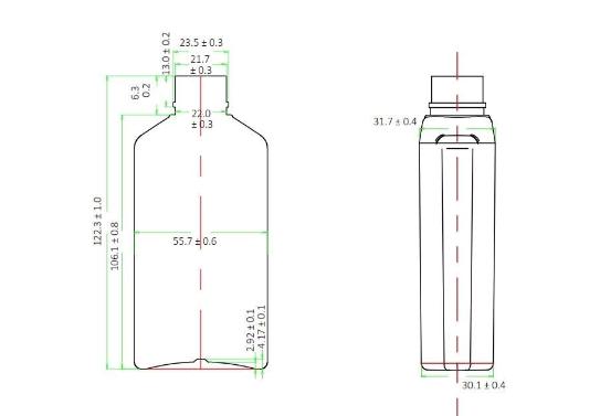 Plano botella FBD1251AN