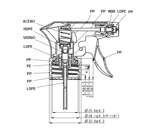 Plano pistola FP101A