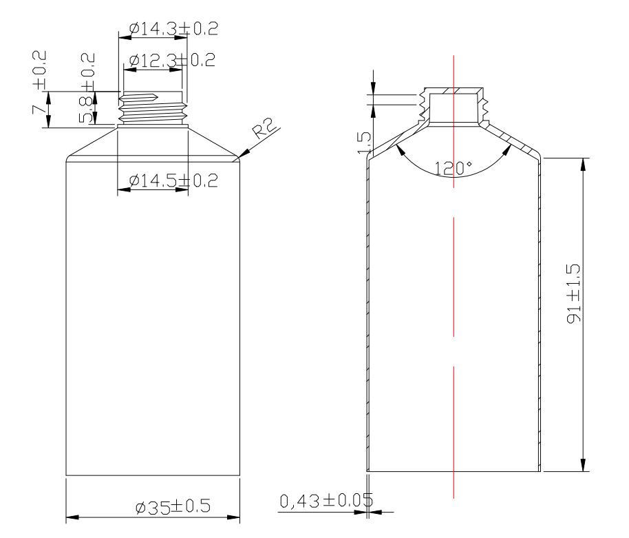 Plano tubo TB50