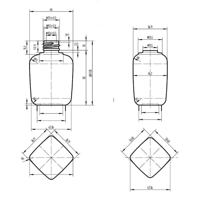 Plano botella fg9003