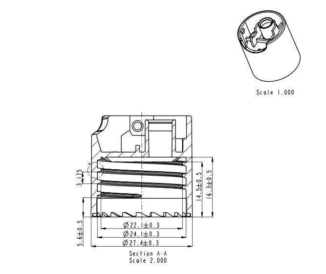 Plano tapón ft101az - ft101bz